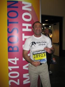 Stephen Kovacev at this year's Boston Marathon