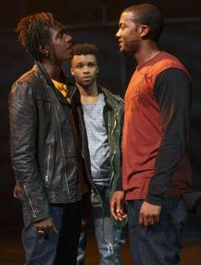 Saul Williams, Dyllon Burnside (background) and Joshua Boone