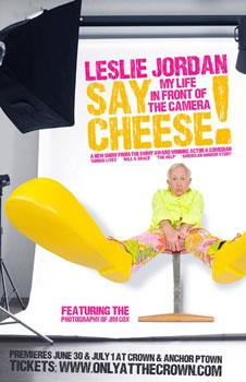 The poster art for Leslie Jordan's new show