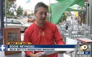 Baja Bettys Marketing Manager Eddie Reynoso