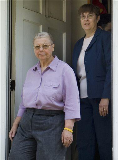 Margaret Mueller, right, and Charlotte Stacey