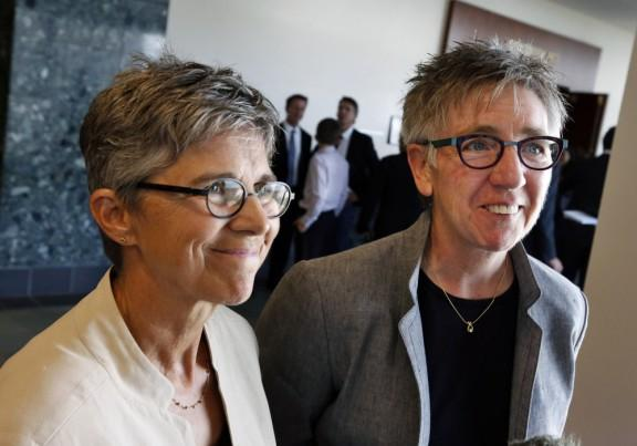 Rebecca Brinkman, left, and Margaret Burd, plaintiffs in Colorado's marriage case.
