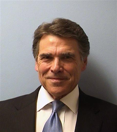 Texas Gov. Rick Perry's mugshot.