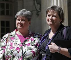 Sharon Baldwin (l) and Mary Bishop (r), plaintiffs