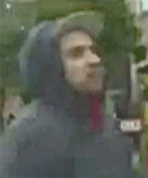 San Francisco police released this video image of a person of interest in connection with the death of Bryan Higgins.