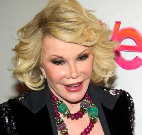 "Joan Rivers attends a screening of the Season 2 premiere of WE TV's ""Joan & Melissa: Joan Knows Best?"" in New York in January, 2012"