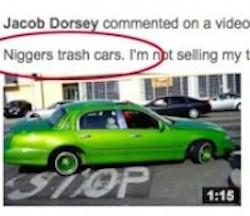 Comment made on YouTube by 19-year-old former GOP hopeful, Jacob Dorsey