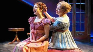 Elinor (Sharon Rietkerk) and Marianne Dashwood (Megan McGinnis)