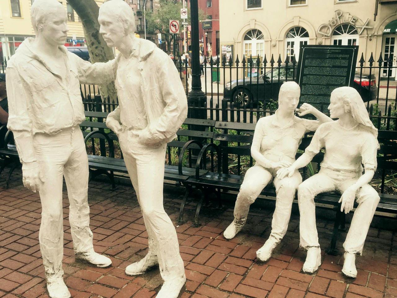 George Segal sculpture at Christopher Park.