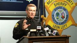 In this image taken from video, Richland County Sheriff Leon Lott speaks during a press conference in Columbia, S.C., Tuesday, Oct. 27, 2015
