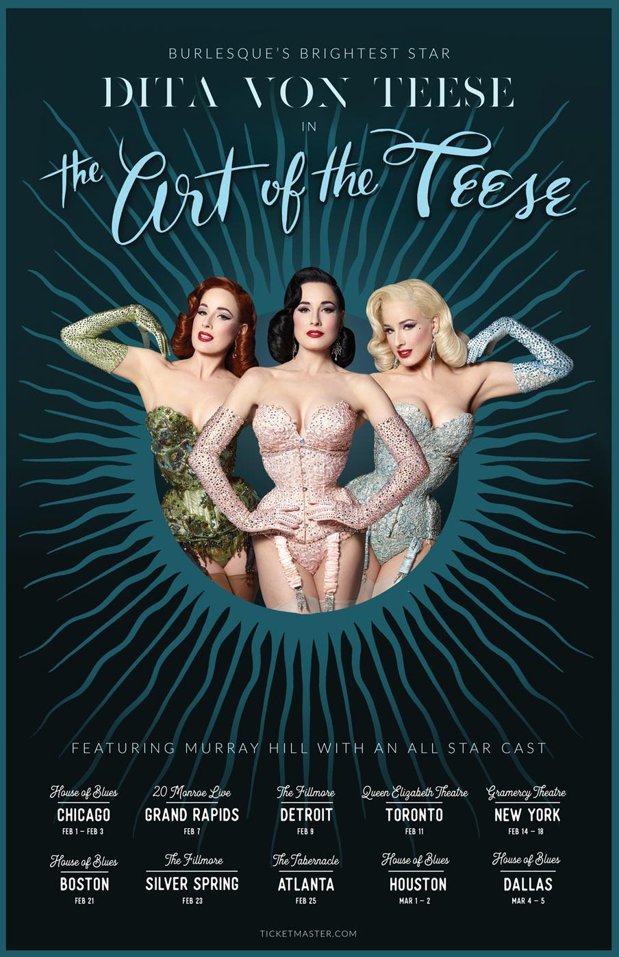 741792e03ee1 EDGE Media Network    Dita Von Teese Back with  The Art of the Teese