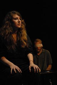 """Hannah Bos and Paul Thureen in """"Hostage Song."""""""