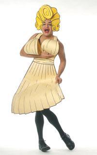"Ennio Marchetto as Marilyn Monroe in ""Ennio!"" at the Calderwood Pavilion."