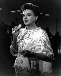 Judy Garland in a photo taken from her television show, clips of which comprised much of the footage used in Judy Garland in Concert, a spectacular blend of high tech sound engineering and Garland's musical genius.