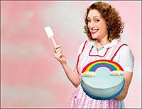 "Comedian Judy Gold in a promotional photo for ""Mommie Queerest,"" at the Calderwood Pavilion through Wednesday."