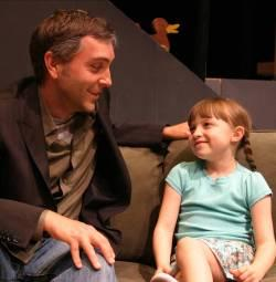"""Scott Lowell and Olivia Aaron in """"The Pain and the Itch"""""""