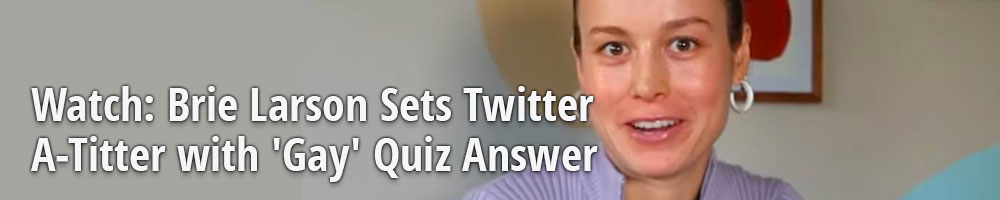 Watch: Brie Larson Sets Twitter A-Titter with 'Gay' Quiz Answer