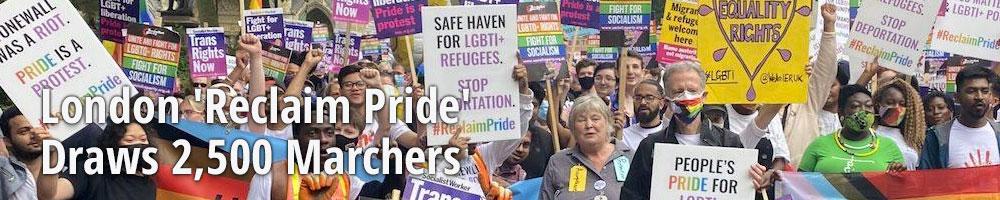 London 'Reclaim Pride' Draws 2,500 Marchers