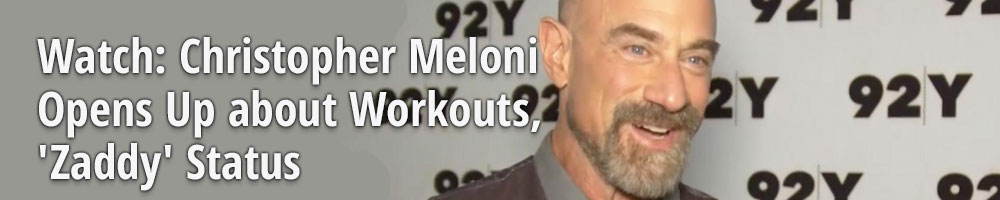 Watch: Christopher Meloni Opens Up about Workouts, 'Zaddy' Status