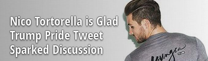 Nico Tortorella is Glad Trump Pride Tweet Sparked Discussion