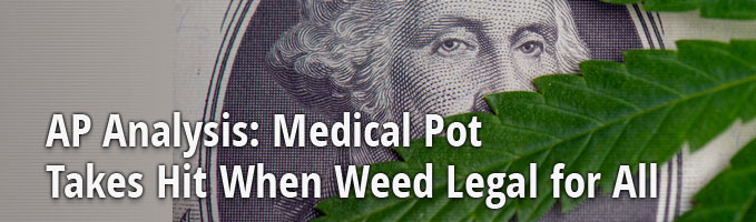 AP Analysis: Medical Pot Takes Hit When Weed Legal for All