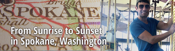 From Sunrise to Sunset in Spokane, Washington