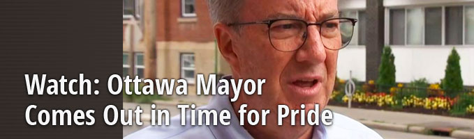Watch: Ottawa Mayor Comes Out in Time for Pride