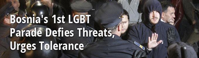 Bosnia's 1st LGBT Parade Defies Threats, Urges Tolerance