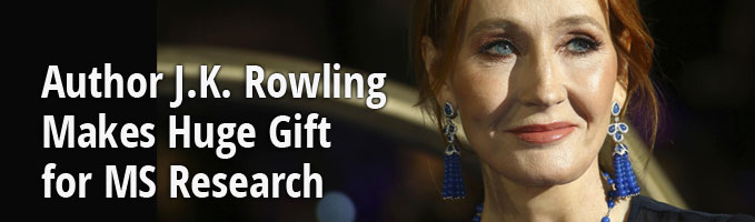 Author J.K. Rowling Makes Huge Gift for MS Research