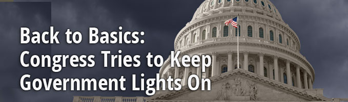 Back to Basics: Congress Tries to Keep Government Lights On