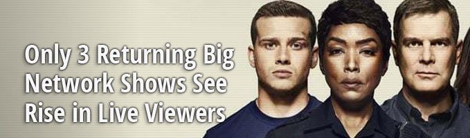 Only 3 Returning Big Network Shows See Rise in Live Viewers