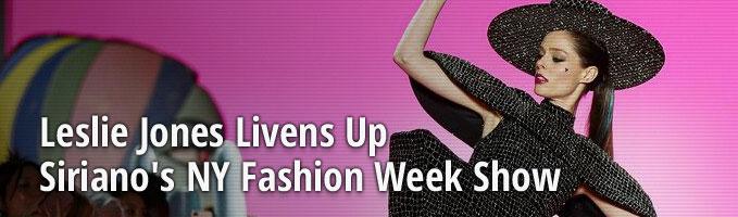 Leslie Jones Livens Up Siriano's NY Fashion Week Show