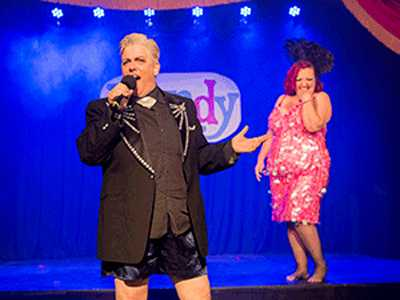 Dapper Drag Kings :: Dandy Takes the Oasis Stage