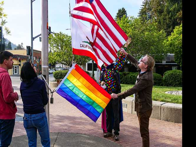 Rainbow flags disappear in Guerneville