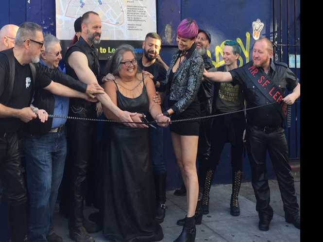 Leather cultural district cuts ribbon