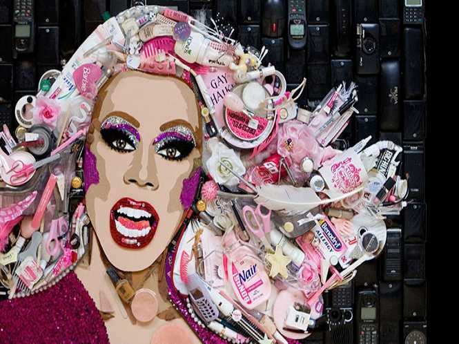 Celebrities done up in rubbish!
