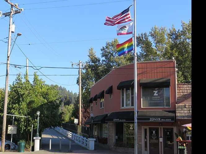 Guerneville rainbow flag stolen again
