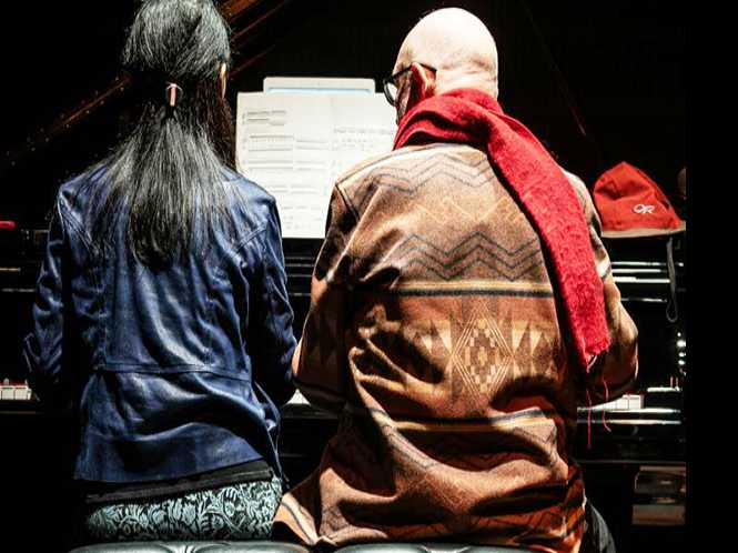 Four hands play Terry Riley pieces