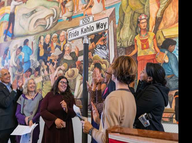 Frida Kahlo Way unveiled at City College