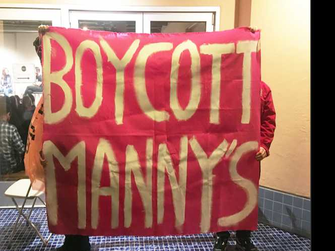 Commentary: Resist: Checking out the Manny's boycott