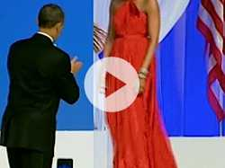 Michelle Obama's Second Inaugural Gown on Exhibit