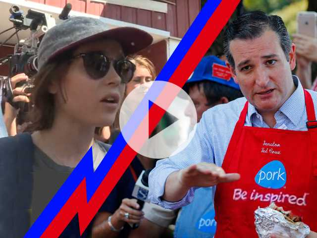 Watch: Ted Cruz Inspired to Talk LGBT Rights with Ellen Page