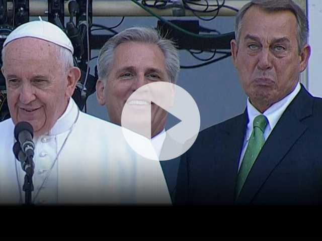 Rigid Boehner Wilted by Pope as the Speaker Exits