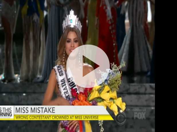Wrong Contestant Crowned at Miss Universe