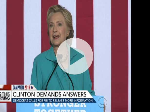 Clinton Demands Answers on FBI Director's Email Disclosure