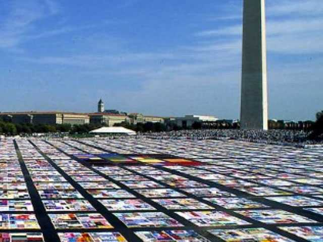 The Advocate Brings AIDS Memorial Quilt Panels to LA