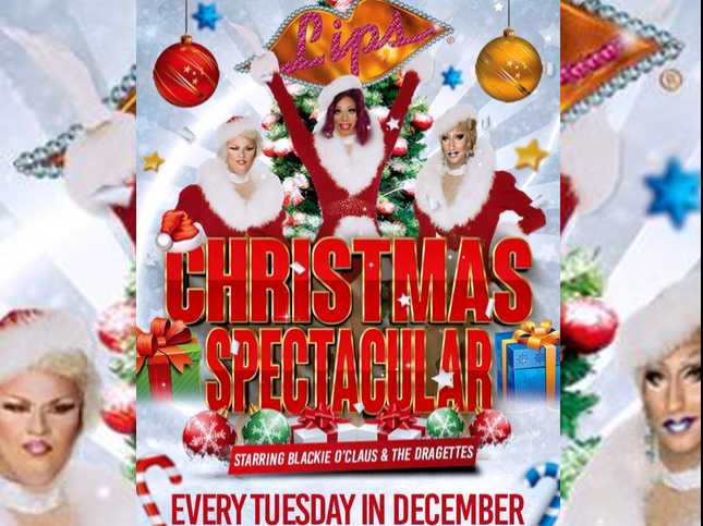 Lips, NYC's Drag Show Palace, Celebrates a Rockin' Holiday Season with 'Christmas Spectacular'