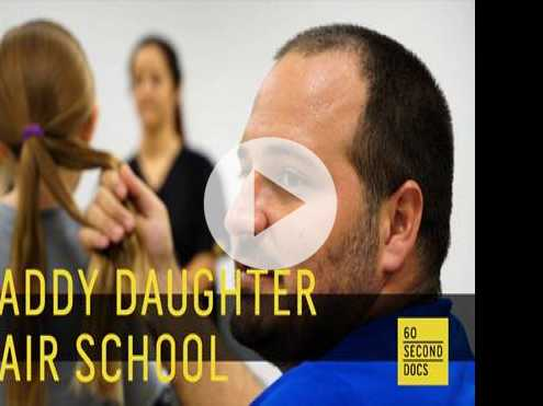 Watch: Daddy Daughter Hair Factory