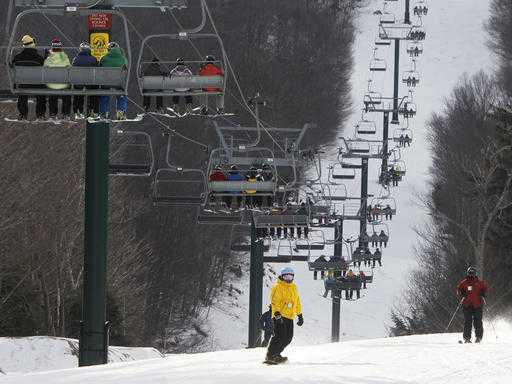 Snow Brings Out Skiers in New England