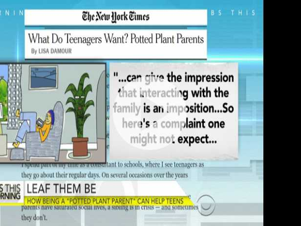 How Being A 'Potted Plant Parent' Can Help Teens